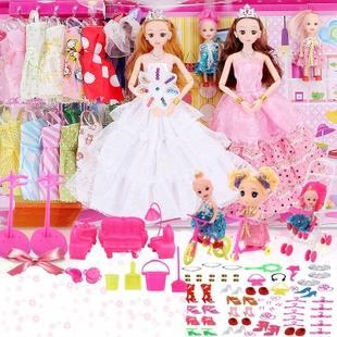 芭比娃娃过家家玩具洋娃娃大礼盒 券后54.6元