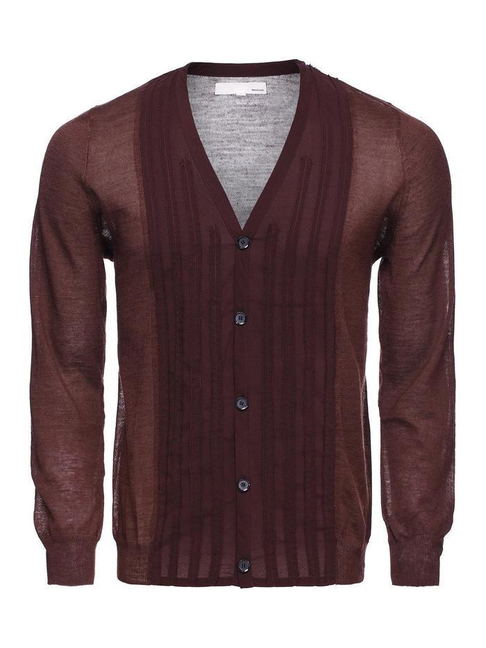 trendiano男式v领针织衫开衫3121034750810