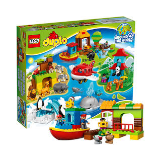 lego乐高积木拼装玩具得宝系列环球动物集合10805积木