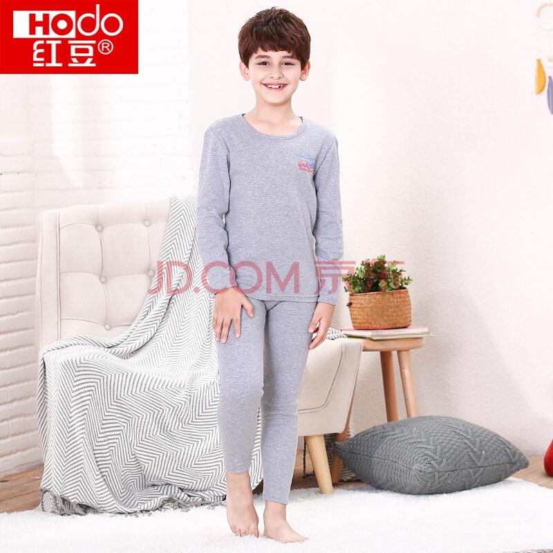 Hodo 红豆 HDM03 儿童纯棉内衣套装39元,可2件8.5折
