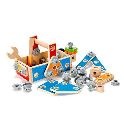 ¥39 Hape百变木匠工具盒3-6岁宝宝儿童益智男女孩螺母拆装组装玩具