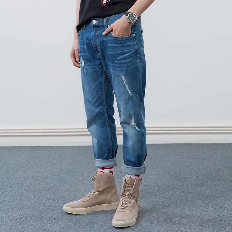 Lee 李 新品X-line L117093QJ8MZ 男士水洗修身牛仔裤 699元
