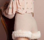 折合90.61元 Lily Brown 绒毛下摆冬季款短裤'