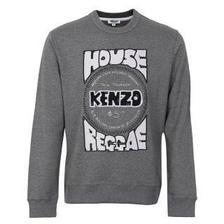 KENZO 4MA 5SW155 98 L 男士灰色棉质字母图案长袖卫衣 1674元包邮(双重优惠)