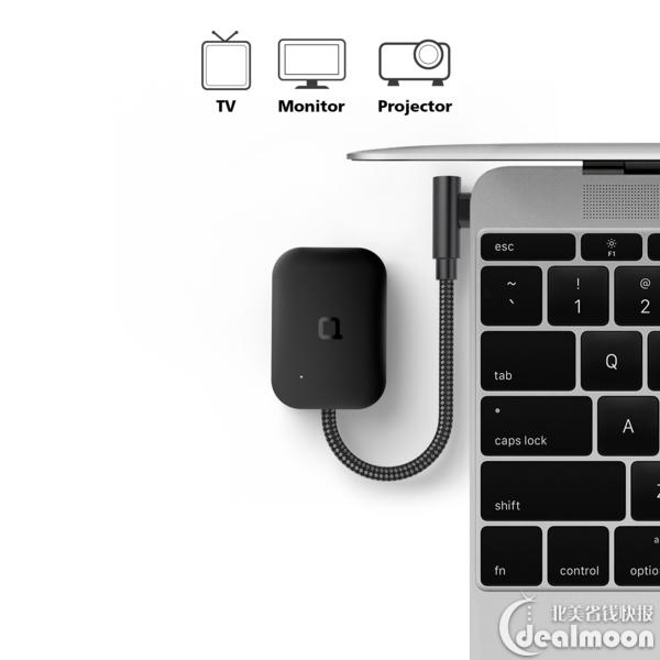 nonda 可折叠 USB-C转Mini DisplayPort转接器 支持4k 60Hz