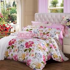 ¥249 富安娜(FUANNA)家纺床品套件 纯棉斜纹床上四件套 床单被套 几米阳光