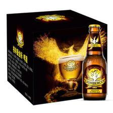 格林堡(GRIMBERGEN)金标啤酒 法国进口 330ml*8瓶 礼盒装 *2件 258元(合129元/件