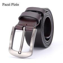 ¥44.9 柏芝斐乐(PazziPizio)男士皮带真皮针扣腰带商务休闲复古合金扣头 P06(P06