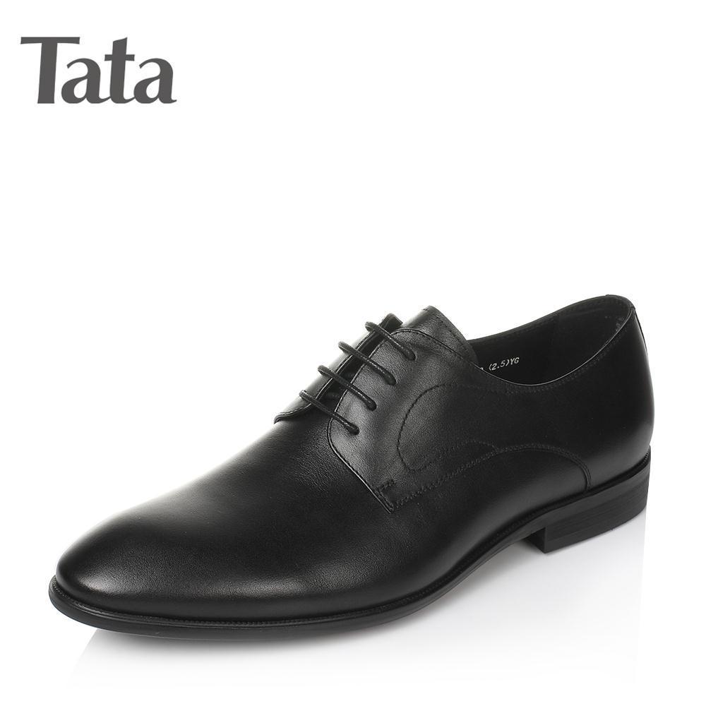 Tata/他她2017年春季油蜡牛皮男皮鞋22H20AM7 268元