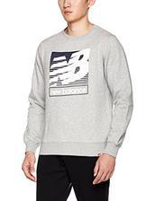 ¥89 New Balance 男式 运动卫衣 AMT73505-AG-S 灰色 165/88A