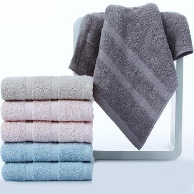 ¥39.9 三利纯棉素色良品缎档毛巾超值6条装33×70cm