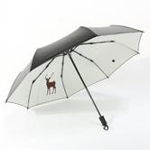 莱朗 双层黑胶 三折晴雨伞 麋鹿款 34.9元包邮