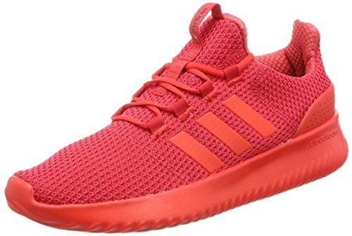 ¥256.4 adidas NEO 阿迪达斯运动生活 中性 休闲跑步鞋 CLOUDFOAM ULTIMATE BC0123 浅猩红/基础红 S17/基督红 43 (UK 9)
