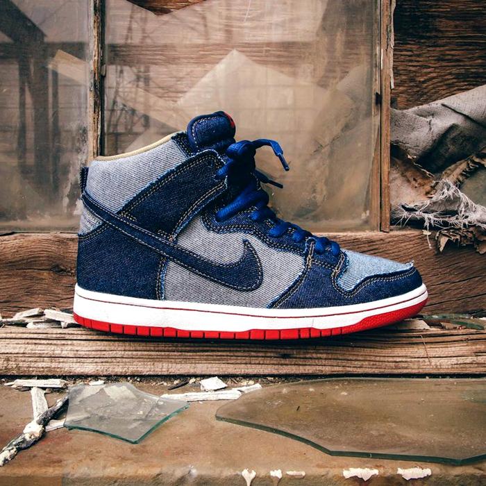 牛仔设计!Nike SB Dunk High OG 'Reese Denim' 耐克官网819元有售