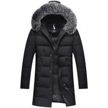 诺雷敦 无缝工艺 派克大衣商务款 羽绒服 带防风袖 399元包邮 送围巾