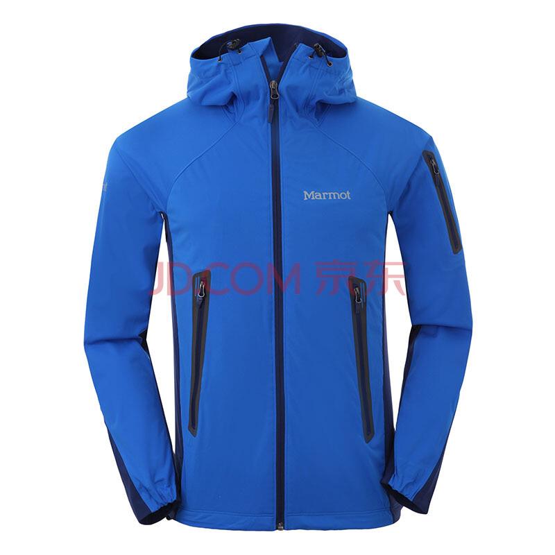 土拨鼠Marmot户外男款M2软壳夹克上衣透气耐磨外套F80660 正蓝色-深海军蓝色 L870元