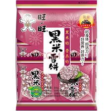¥5.5 旺旺 黑米雪饼 膨化 休闲零食香脆米饼 饼干糕点 原味 84g