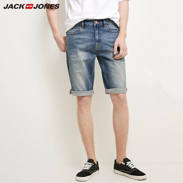 杰克琼斯新款弹力修身浅色轻薄复古牛仔短裤 199.5元包邮