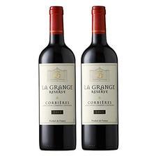128元 Lahoussey 拉赛尔 AOC级 珍藏6号干红葡萄酒 750ml*2 双支装