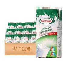 ¥79 中粮海外直采 Hochwald好沃德全脂牛奶1L*12盒 德国原装进口