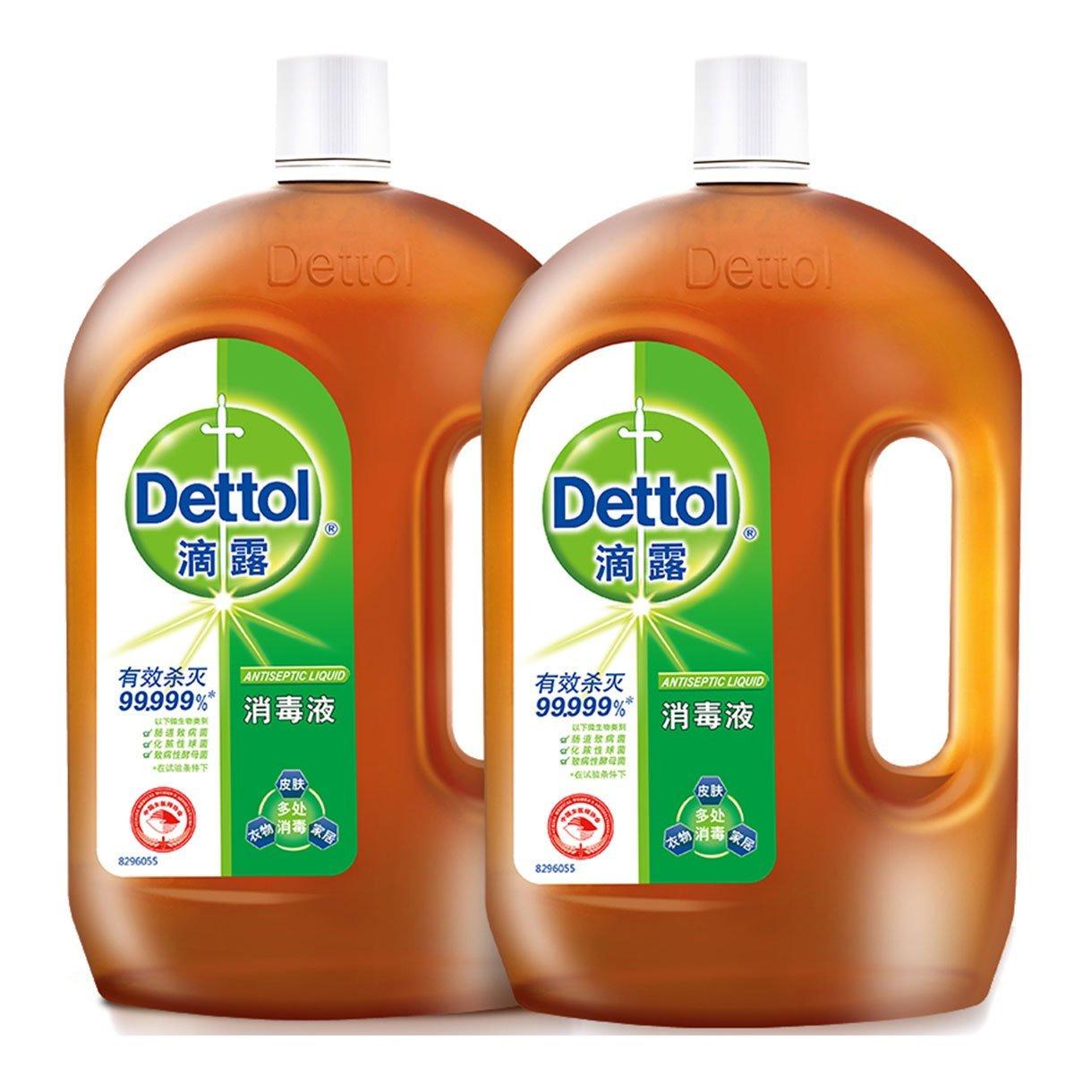 超值特惠!Dettol滴露消毒液1.8L+1.8L两瓶装 87元