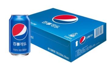 1.33元/罐!PEPSI 百事 可乐型汽水 330ml*24听