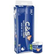 ¥12.45 C&S 洁柔 蓝精品系列 3层140g卷筒卫生纸*10卷'