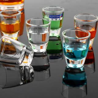 乐美雅(Luminarc)无铅玻璃白酒杯 烈酒金杯50ml 6只装 G9058 *2件 19.9元(合9.95元/件)