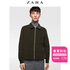 ¥179 ZARA男装灯芯绒衬衫式外套01501351505