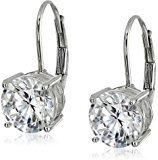 ¥125.13 中亚Prime会员: Amazon Collection GH09-76EWHITE 纯银镶钻珍珠耳钉