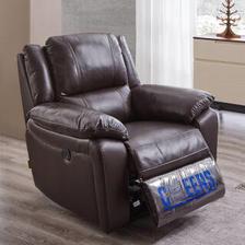 芝华仕沙发 头等舱沙发电动皮沙发 小户型客厅家具K167 咖色 1999元
