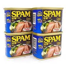 SPAM 世棒 经典午餐肉罐头 340g*4罐 99元包邮