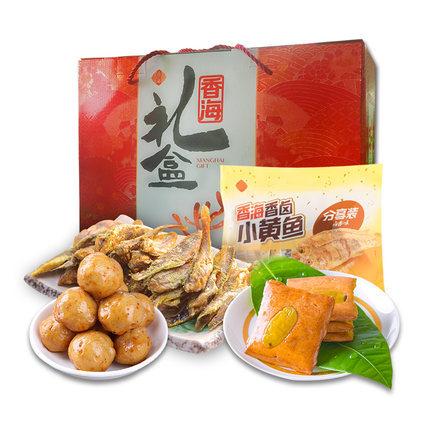 香海 温州特产小黄鱼等四种食材共749g 年货礼盒 ¥39