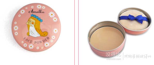 CALYPSO X Amalka 森林仙子 素肌 花瓣 遮瑕蜜粉饼11