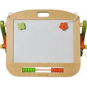 德国EverEarth儿童写字绘画黑板白板磁性双面多功能支架 30962木质1岁以上 黑板(大) 258元'