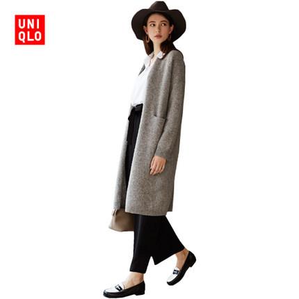 预售: 女装 混色羊毛大衣(长袖) 400466 优衣库UNIQLO 224元