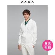 ¥119 ZARA男装珠地布连帽运动衫01701440052'