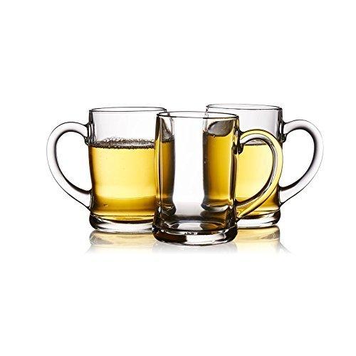 乐美雅(Luminarc) 班尼把杯450ml 3只装 啤酒杯水杯 牛奶杯 49元