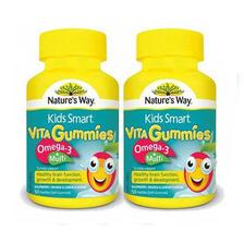 网易考拉海购 Nature's way 佳思敏 儿童复合维生素1瓶+鱼油软糖 50粒/瓶 108元