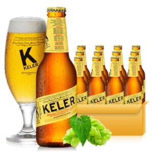 西班牙原装进口啤酒 开勒(KELER) 250ml*12瓶装 *3件 116元(合38.67元/件)