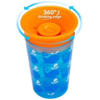 满趣健 Munchkin 宝宝水杯 学饮杯 婴幼儿童360°防漏印花魔术杯喝水训练杯 266ml 15862(颜色随机) 86元