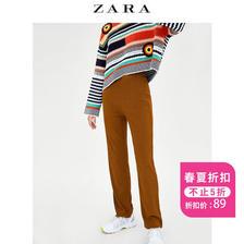 ¥89 ZARA TRF女装质感裤子06050075700