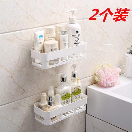 ¥9.5 2个 免打孔浴室厕所置物架吸壁式