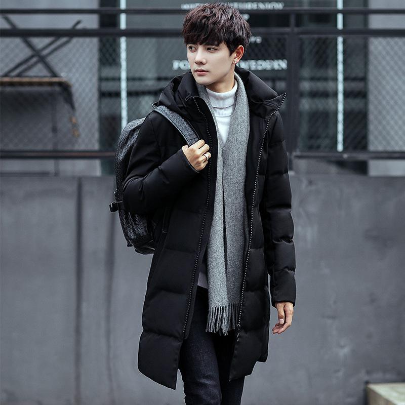 ¥118 阿希玛 男士棉袄韩版学生棉服连帽中长款棉衣
