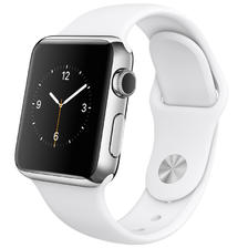¥1638 Apple Watch 智能手表(38毫米不锈钢表壳搭配白色运动型表带 MJ302CH/A)