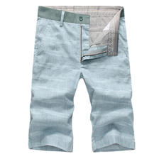 亚麻短裤男士中裤五分裤直筒韩版 券后88元