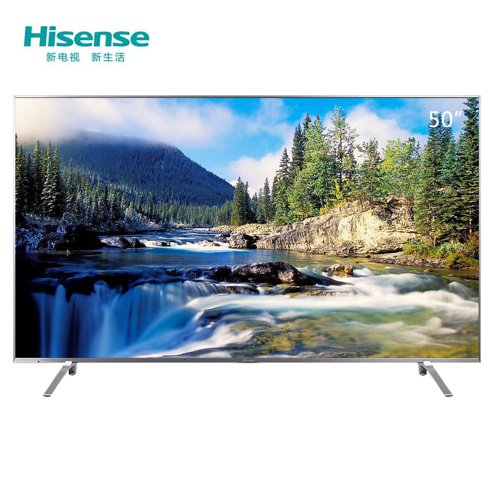 海信HisenseLED50EC680US 50英寸 超高清4K 电视 HDR人工智能 智慧语音 月光银¥2898