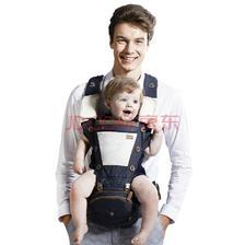 ¥140 抱抱熊(bébéar)婴儿背带腰凳 透气双肩四合一宝宝腰凳 多功能铝制