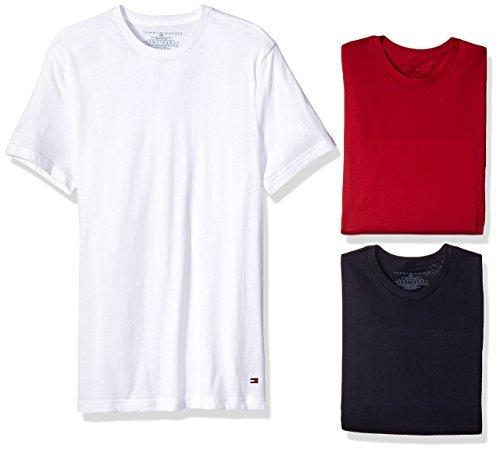 限尺码、中亚Prime会员:TOMMY HILFIGER 男士纯棉T恤 3件装 *2套 ¥319.56+¥38.04含税直邮(约¥358)