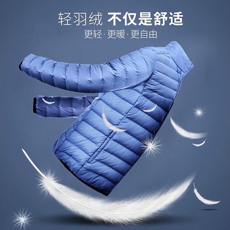 ¥159 冬季轻便羽绒服超轻薄款青年休闲男士运动短款修身新款外套潮户外